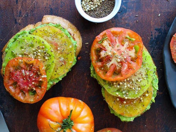 Avocado Toast with Heirloom Tomatoes and Toasted Spices