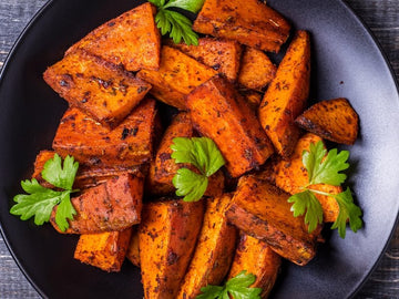 Roasted Berbere Sweet Potatoes