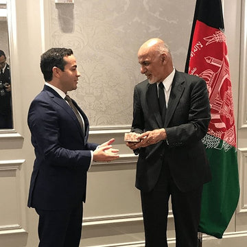 Rumi Invited to Meet the Afghanistan President and Afghanistan Ambassador
