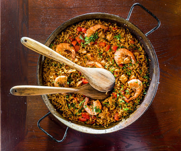 Spanish Seafood Paella with Saffron