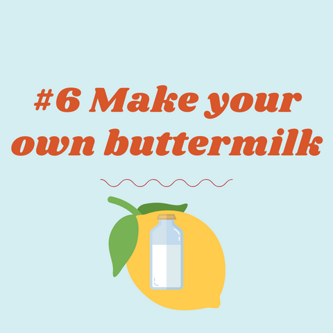 cooking tip from mothers, create your own buttermilk with lemon and milk