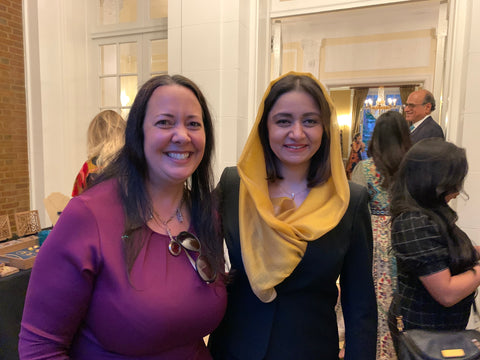 Rumi Spice Attends 2021 Afghan Embassy Event, CEO Patti Meets Ambassador Rahamani