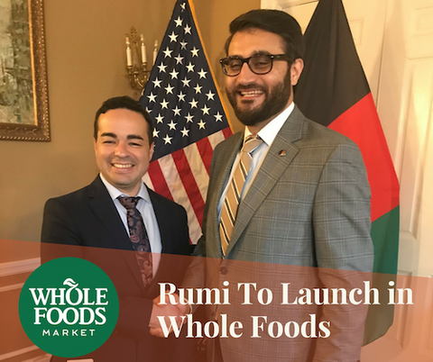 Rumi Spice will be the first food product from Afghanistan to be distributed nationally