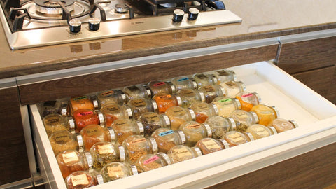 Storing Organizing Spices
