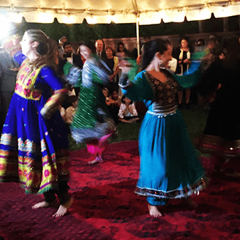 Afghanistan dancers dance the attan