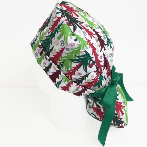 Scrub Hat Ponytail Christmas OR Hats