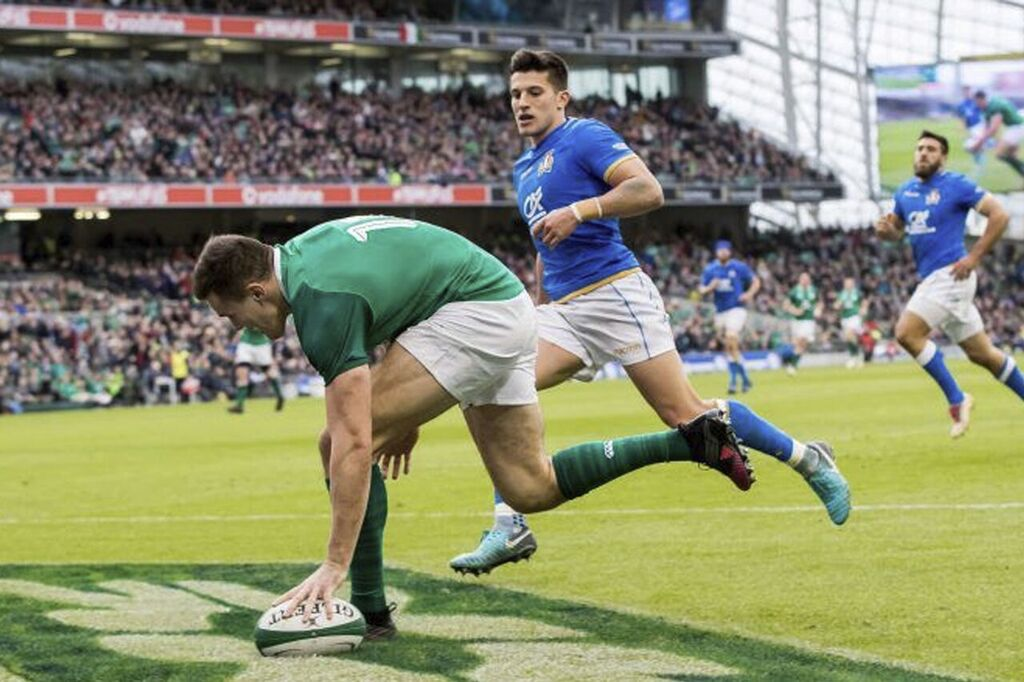 Three Ireland backs featured in the NatWest 6 Nations Fantasy Rugby
