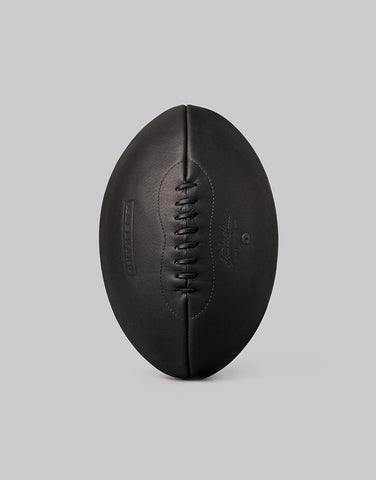 Aedelhard Hand-crafted Black Onyx Leather Rugby Ball