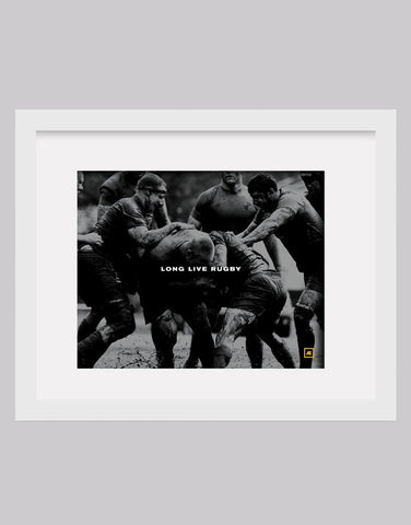 Long live rugby photo print