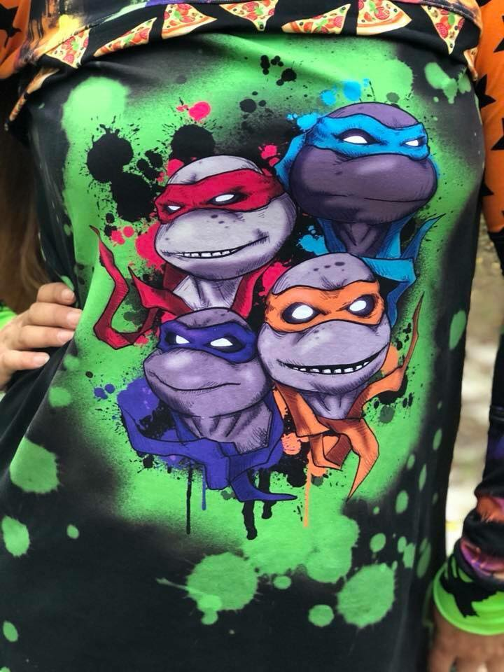 TMNT Group Panels (Blankets, Child, Adult)