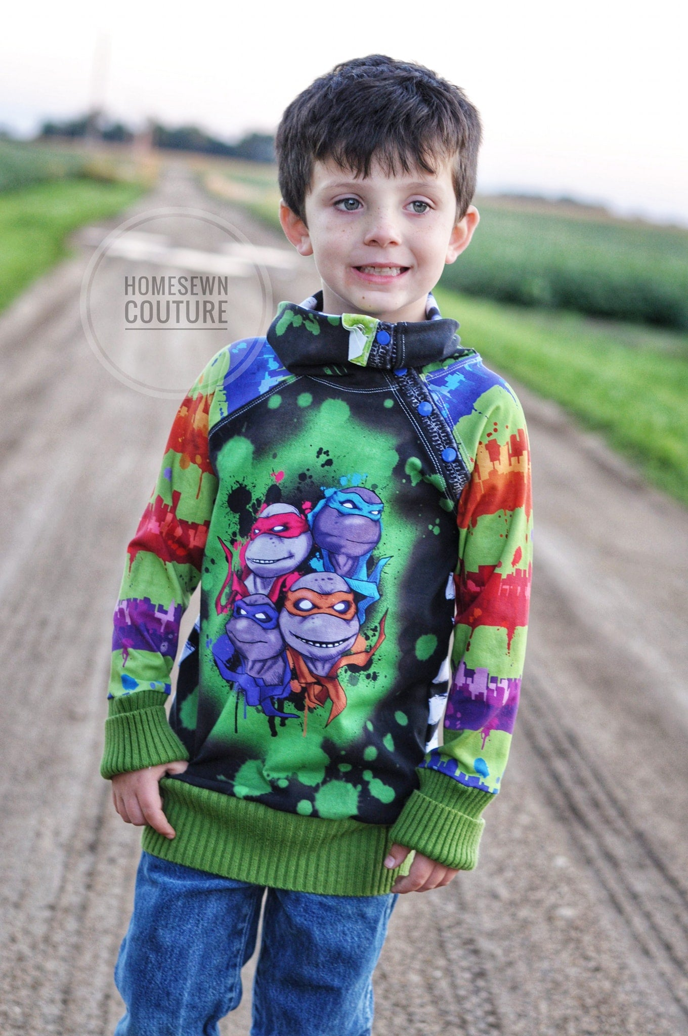 TMNT MAXI City Splatter Stripe