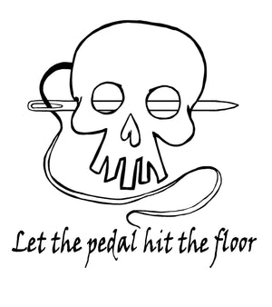 Digital SVG Let The Pedal Hit the Floor
