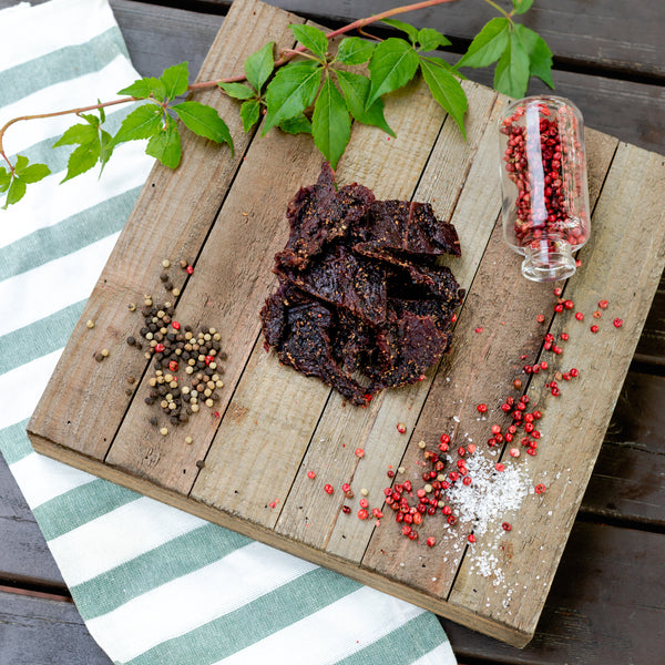 Cracked Pepper Smoked Beef Jerky