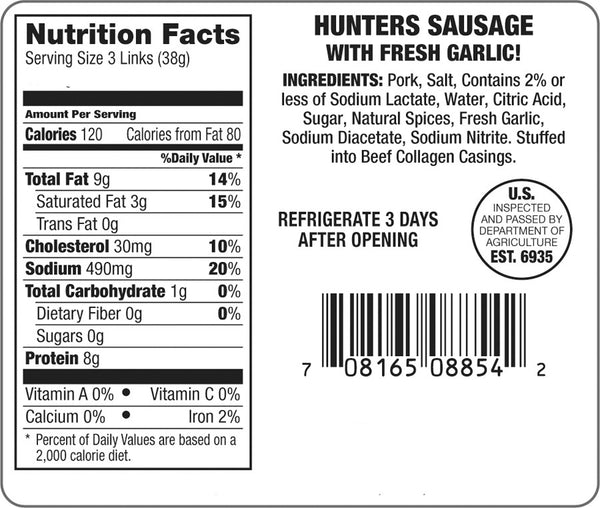 Garlic Hunter Sausage
