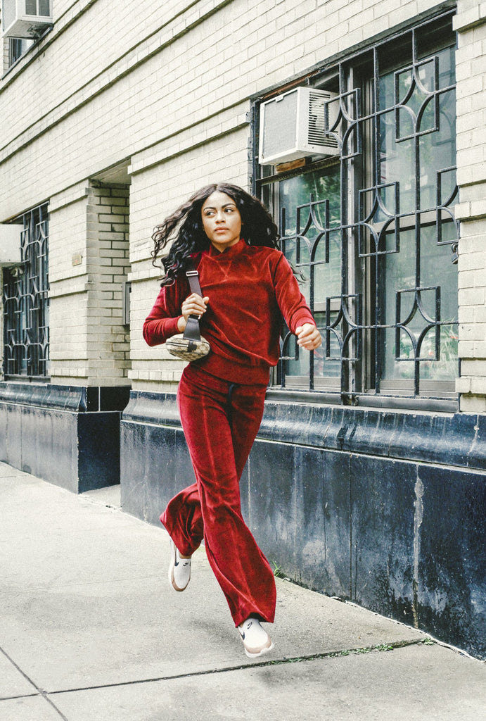 Year of Ours Debuts Velour Warm-Ups Cozier Than Your Calvins