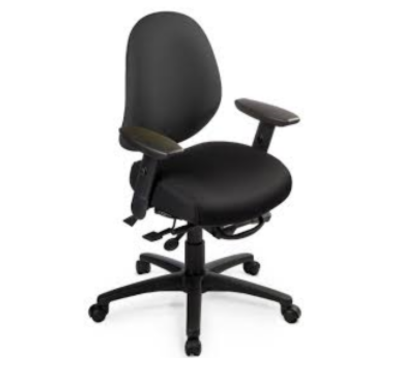 Ergocentric Saffron Mid-Back Chair (Open House Black)