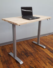 Rectangular Sit-Stand Workstation - Silver