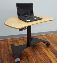 Small Footprint Sit-Stand Mobile Workstation - Black