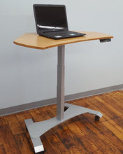 Small Footprint Sit-Stand Mobile Workstation - Silver