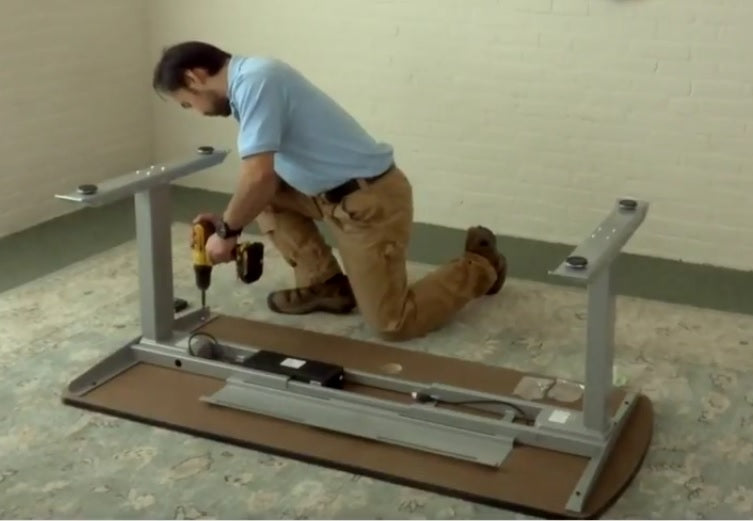 Installation of LifeDesk SmartLegs (Qty 1) Under Existing WorkSurface