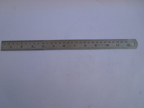 "PARUU® 12"" Pocket Ruler Gauge Stainless Steel ST249 - PARUU INC"