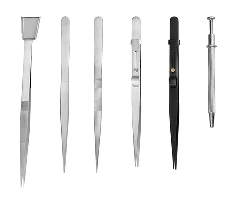 PARUU® 6 Piece Diamond Tweezers Set for Jewelers st1003