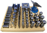 PARUU® 56pc Jumbo Doming Block Punch Swage Set made of Steel Dapping Die Jewellers Tool st1005