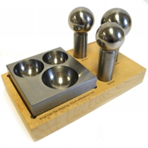 PARUU® King Size Doming Block 40mm 45mm 50mm Punch Set Made Of Steel Dapping Jewelers Tool st1006 - PARUU INC