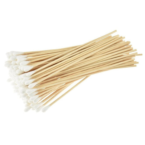 100pcs Wood Sticks Cotton Swab Cotton Buds 6 inch (15cm) st1019 - PARUU INC