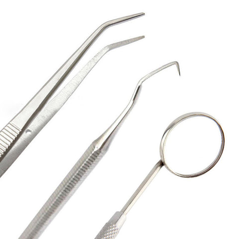 PARUU® 3 PC utility set with Dental Pick, Mouth Mirror, Tweezer st150