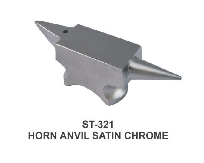 PARUU® Professional Mini horn Anvil satin chrome for precision work st321 - PARUU INC