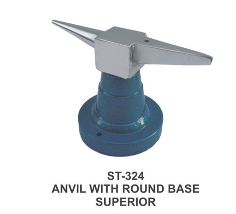 PARUU® Anvil with round base goldsmith steel jeweler tool st324 - PARUU INC