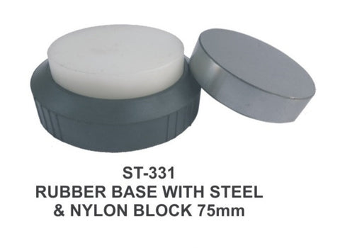 PARUU® STEEL AND NYLON BLOCK WITH RUBBER BASE ST331