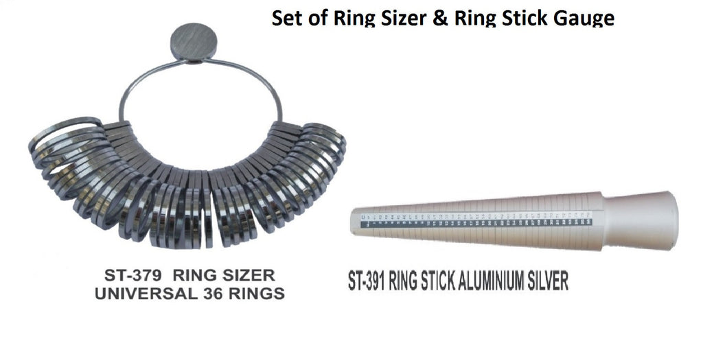 PARUU® Set of Ring stick and Ring sizer st379-391 - PARUU INC