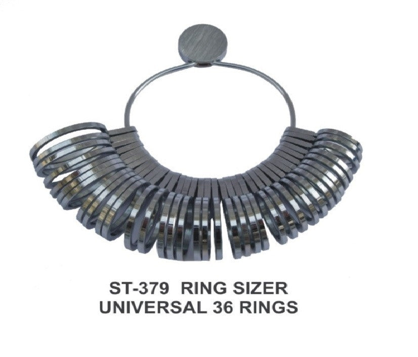 PARUU® Universal 36 Pcs Metal ring sizer set st379 - PARUU INC