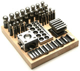 PARUU® 40 Pc Jumbo Doming Punch and Block Set wooden stand st421