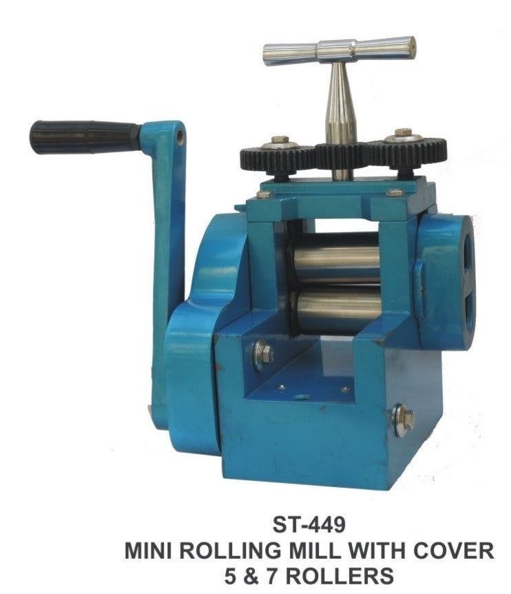 PARUU® Mini combination rolling mill with cover and 7 Rollers st449