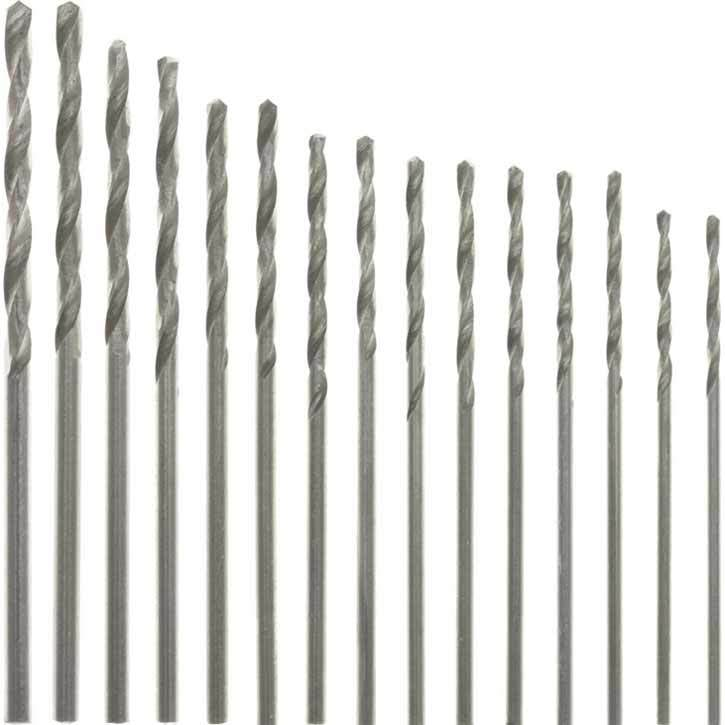 PARUU® 15 Piece HSS Drill Bit Set 1.05mm to 2.0mm ST-503 - PARUU INC
