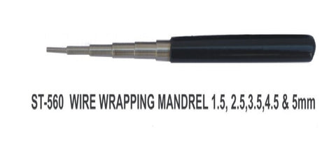 PARUU® wire wrapping mandrel 1.5 - 2.5 - 3.5 - 4.5 - 5mm jeweler tool st560 - PARUU INC