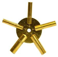 PARUU® clock key brass watch repair 3-5-7-9-11 sizes st671b - PARUU INC