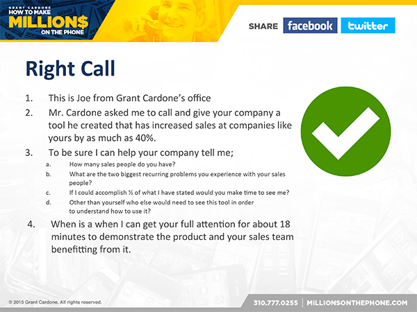 Millions on the Phone Webcast - Grant Cardone