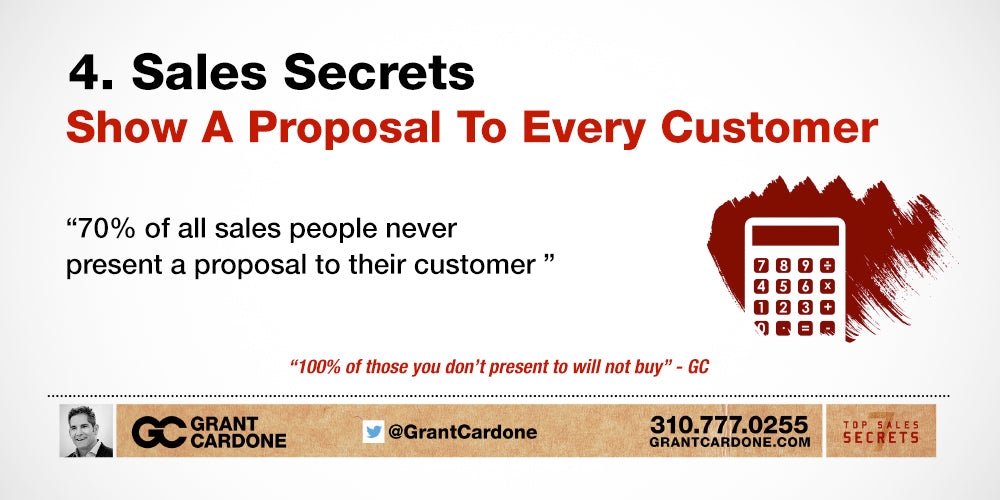 Top Sales Secret #4: Show A Proposal To Every Customer