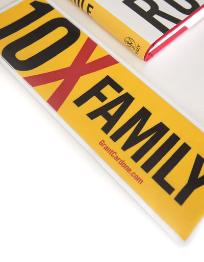 10X Family Motivational Sticker