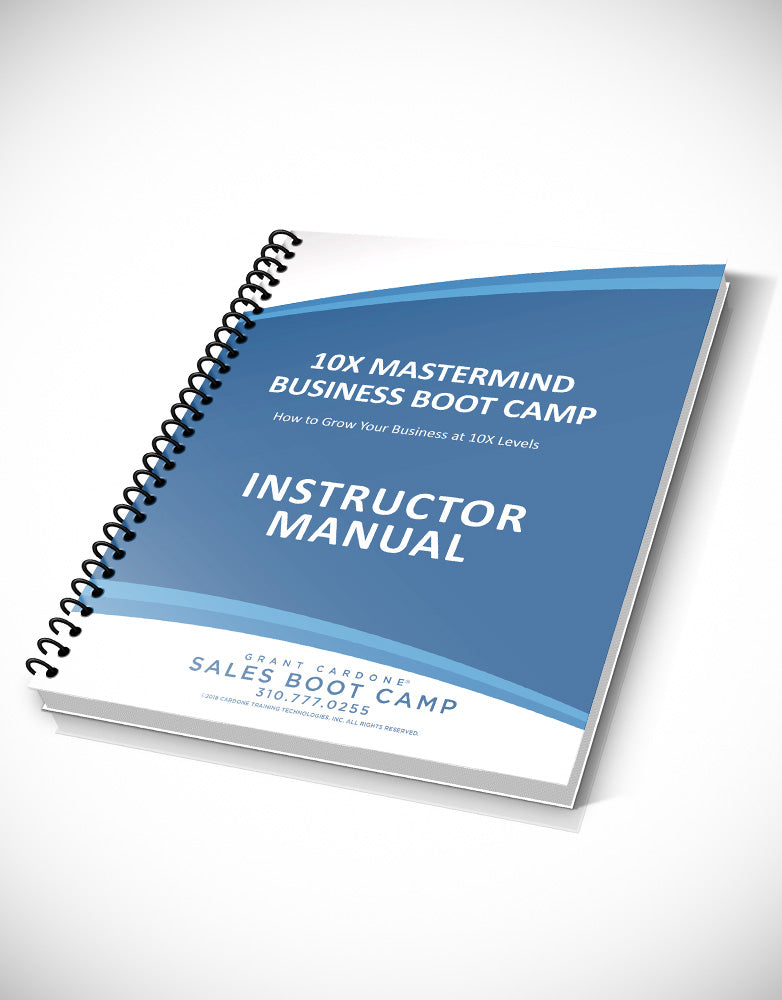 10X Business Bootcamp Trainers Manual