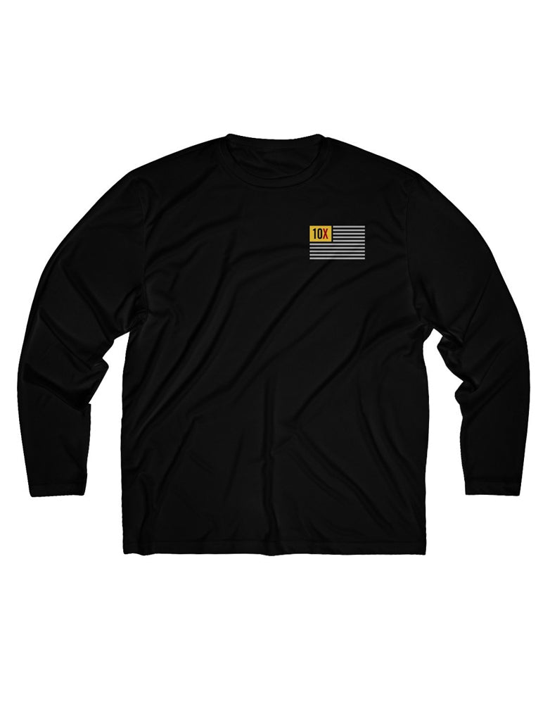 10X Flag - Long Sleeve Moisture Absorbing Tee
