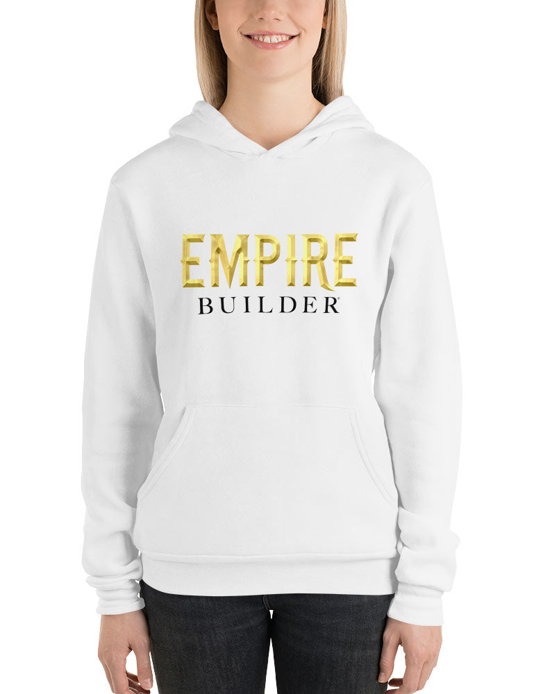 Empire Builder - White Unisex hoodie