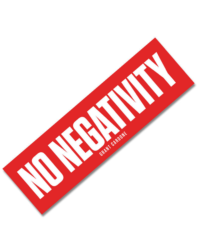 No Negativity Motivational Sticker