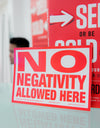 No Negativity Allowed Postcards [10 Pack]
