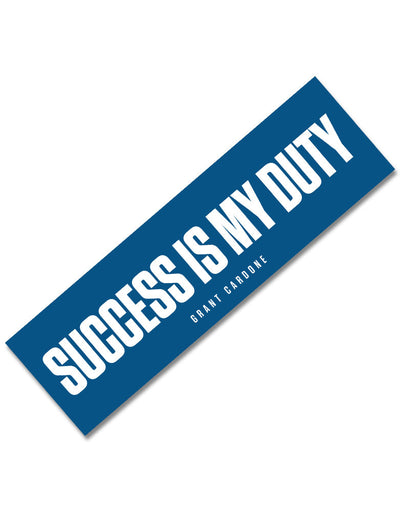 Success is My Duty Motivational Sticker