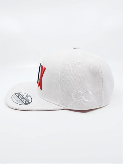 10X Black & Red on White – Five Panel Snapback Hat